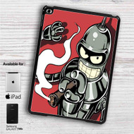 "Futurama Bender Smoke iPad 2 3 4 iPad Mini 1 2 3 4 iPad Air 1 2 | Samsung Galaxy Tab 10.1"" Tab 2 7"" Tab 3 7"" Tab 3 8"" Tab 4 7"" Case"