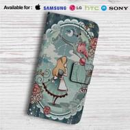 Alice in Wonderland Disney Custom Leather Wallet iPhone 4/4S 5S/C 6/6S Plus 7| Samsung Galaxy S4 S5 S6 S7 Note 3 4 5| LG G2 G3 G4| Motorola Moto X X2 Nexus 6| Sony Z3 Z4 Mini| HTC ONE X M7 M8 M9 Case
