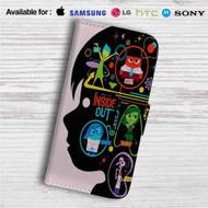 Disney Pixar for Inside Out Custom Leather Wallet iPhone 4/4S 5S/C 6/6S Plus 7| Samsung Galaxy S4 S5 S6 S7 Note 3 4 5| LG G2 G3 G4| Motorola Moto X X2 Nexus 6| Sony Z3 Z4 Mini| HTC ONE X M7 M8 M9 Case