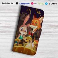 Disney Zootopia Dancing Custom Leather Wallet iPhone 4/4S 5S/C 6/6S Plus 7| Samsung Galaxy S4 S5 S6 S7 Note 3 4 5| LG G2 G3 G4| Motorola Moto X X2 Nexus 6| Sony Z3 Z4 Mini| HTC ONE X M7 M8 M9 Case