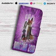 Doctor Who Zootopia Disney Custom Leather Wallet iPhone 4/4S 5S/C 6/6S Plus 7| Samsung Galaxy S4 S5 S6 S7 Note 3 4 5| LG G2 G3 G4| Motorola Moto X X2 Nexus 6| Sony Z3 Z4 Mini| HTC ONE X M7 M8 M9 Case