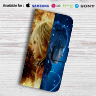 Final Fantasy XV Custom Leather Wallet iPhone 4/4S 5S/C 6/6S Plus 7| Samsung Galaxy S4 S5 S6 S7 Note 3 4 5| LG G2 G3 G4| Motorola Moto X X2 Nexus 6| Sony Z3 Z4 Mini| HTC ONE X M7 M8 M9 Case