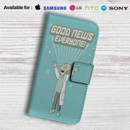 Futurama Good News Everyone Custom Leather Wallet iPhone 4/4S 5S/C 6/6S Plus 7| Samsung Galaxy S4 S5 S6 S7 Note 3 4 5| LG G2 G3 G4| Motorola Moto X X2 Nexus 6| Sony Z3 Z4 Mini| HTC ONE X M7 M8 M9 Case