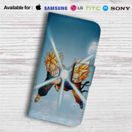 Goten and Trunks Dragon Ball Z Custom Leather Wallet iPhone 4/4S 5S/C 6/6S Plus 7  Samsung Galaxy S4 S5 S6 S7 Note 3 4 5  LG G2 G3 G4  Motorola Moto X X2 Nexus 6  Sony Z3 Z4 Mini  HTC ONE X M7 M8 M9 Case