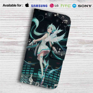 Hatsune Miku Vocaloid Custom Leather Wallet iPhone 4/4S 5S/C 6/6S Plus 7| Samsung Galaxy S4 S5 S6 S7 Note 3 4 5| LG G2 G3 G4| Motorola Moto X X2 Nexus 6| Sony Z3 Z4 Mini| HTC ONE X M7 M8 M9 Case