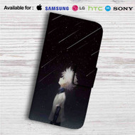 Hunter X Hunter Killua Manga Custom Leather Wallet iPhone 4/4S 5S/C 6/6S Plus 7| Samsung Galaxy S4 S5 S6 S7 Note 3 4 5| LG G2 G3 G4| Motorola Moto X X2 Nexus 6| Sony Z3 Z4 Mini| HTC ONE X M7 M8 M9 Case