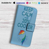Keep Calm and Be Cooler My Little Pony Custom Leather Wallet iPhone 4/4S 5S/C 6/6S Plus 7| Samsung Galaxy S4 S5 S6 S7 Note 3 4 5| LG G2 G3 G4| Motorola Moto X X2 Nexus 6| Sony Z3 Z4 Mini| HTC ONE X M7 M8 M9 Case
