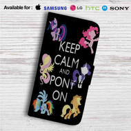 Keep Calm and Pony On My Little Pony Custom Leather Wallet iPhone 4/4S 5S/C 6/6S Plus 7| Samsung Galaxy S4 S5 S6 S7 Note 3 4 5| LG G2 G3 G4| Motorola Moto X X2 Nexus 6| Sony Z3 Z4 Mini| HTC ONE X M7 M8 M9 Case