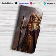 Leona League of Legends Custom Leather Wallet iPhone 4/4S 5S/C 6/6S Plus 7| Samsung Galaxy S4 S5 S6 S7 Note 3 4 5| LG G2 G3 G4| Motorola Moto X X2 Nexus 6| Sony Z3 Z4 Mini| HTC ONE X M7 M8 M9 Case