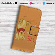 Pooh There's Sunshine in My Soul Disney Custom Leather Wallet iPhone 4/4S 5S/C 6/6S Plus 7| Samsung Galaxy S4 S5 S6 S7 Note 3 4 5| LG G2 G3 G4| Motorola Moto X X2 Nexus 6| Sony Z3 Z4 Mini| HTC ONE X M7 M8 M9 Case