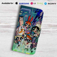 Power Puff Girls Dexter Laboratory Custom Leather Wallet iPhone 4/4S 5S/C 6/6S Plus 7| Samsung Galaxy S4 S5 S6 S7 Note 3 4 5| LG G2 G3 G4| Motorola Moto X X2 Nexus 6| Sony Z3 Z4 Mini| HTC ONE X M7 M8 M9 Case