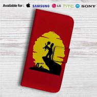 The Simpsons The Lion King Custom Leather Wallet iPhone 4/4S 5S/C 6/6S Plus 7  Samsung Galaxy S4 S5 S6 S7 Note 3 4 5  LG G2 G3 G4  Motorola Moto X X2 Nexus 6  Sony Z3 Z4 Mini  HTC ONE X M7 M8 M9 Case