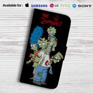 The Simpsons Zombies Custom Leather Wallet iPhone 4/4S 5S/C 6/6S Plus 7| Samsung Galaxy S4 S5 S6 S7 Note 3 4 5| LG G2 G3 G4| Motorola Moto X X2 Nexus 6| Sony Z3 Z4 Mini| HTC ONE X M7 M8 M9 Case