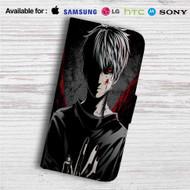 Tokyo Ghoul Kaneki Ken Custom Leather Wallet iPhone 4/4S 5S/C 6/6S Plus 7| Samsung Galaxy S4 S5 S6 S7 Note 3 4 5| LG G2 G3 G4| Motorola Moto X X2 Nexus 6| Sony Z3 Z4 Mini| HTC ONE X M7 M8 M9 Case