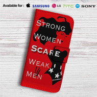 Wonder Woman Strong Quotes Custom Leather Wallet iPhone 4/4S 5S/C 6/6S Plus 7| Samsung Galaxy S4 S5 S6 S7 Note 3 4 5| LG G2 G3 G4| Motorola Moto X X2 Nexus 6| Sony Z3 Z4 Mini| HTC ONE X M7 M8 M9 Case