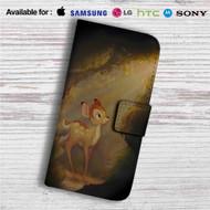 Bambi in The Light Custom Leather Wallet iPhone 4/4S 5S/C 6/6S Plus 7  Samsung Galaxy S4 S5 S6 S7 Note 3 4 5  LG G2 G3 G4  Motorola Moto X X2 Nexus 6  Sony Z3 Z4 Mini  HTC ONE X M7 M8 M9 Case