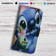Disney Stitch Face Custom Leather Wallet iPhone 4/4S 5S/C 6/6S Plus 7| Samsung Galaxy S4 S5 S6 S7 Note 3 4 5| LG G2 G3 G4| Motorola Moto X X2 Nexus 6| Sony Z3 Z4 Mini| HTC ONE X M7 M8 M9 Case