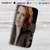 Natasha Romanoff Black Widow Custom Leather Wallet iPhone 4/4S 5S/C 6/6S Plus 7| Samsung Galaxy S4 S5 S6 S7 Note 3 4 5| LG G2 G3 G4| Motorola Moto X X2 Nexus 6| Sony Z3 Z4 Mini| HTC ONE X M7 M8 M9 Case