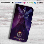 Overwatch Reaper Custom Leather Wallet iPhone 4/4S 5S/C 6/6S Plus 7  Samsung Galaxy S4 S5 S6 S7 Note 3 4 5  LG G2 G3 G4  Motorola Moto X X2 Nexus 6  Sony Z3 Z4 Mini  HTC ONE X M7 M8 M9 Case