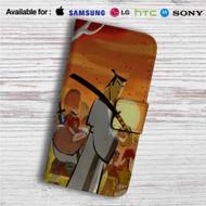 Samurai Jack Anime Custom Leather Wallet iPhone 4/4S 5S/C 6/6S Plus 7  Samsung Galaxy S4 S5 S6 S7 Note 3 4 5  LG G2 G3 G4  Motorola Moto X X2 Nexus 6  Sony Z3 Z4 Mini  HTC ONE X M7 M8 M9 Case