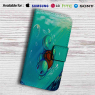 Squirtle Pokemon Custom Leather Wallet iPhone 4/4S 5S/C 6/6S Plus 7| Samsung Galaxy S4 S5 S6 S7 Note 3 4 5| LG G2 G3 G4| Motorola Moto X X2 Nexus 6| Sony Z3 Z4 Mini| HTC ONE X M7 M8 M9 Case