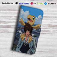 Taichi Yagami and Agumon Digimon Custom Leather Wallet iPhone 4/4S 5S/C 6/6S Plus 7| Samsung Galaxy S4 S5 S6 S7 Note 3 4 5| LG G2 G3 G4| Motorola Moto X X2 Nexus 6| Sony Z3 Z4 Mini| HTC ONE X M7 M8 M9 Case