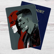 Daredevil Punisher Custom Leather Passport Wallet Case Cover