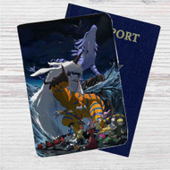 Digimon Adventure Tri Custom Leather Passport Wallet Case Cover
