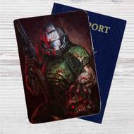 Doom Marine Custom Leather Passport Wallet Case Cover