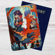 Gurren Lagann Simon and Kamina Custom Leather Passport Wallet Case Cover