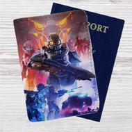 Halo 5  Team Osiris Custom Leather Passport Wallet Case Cover