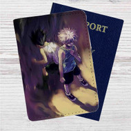 Killua Zoldyck and Gon Freecss Hunter x Hunter Custom Leather Passport Wallet Case Cover