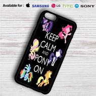 Keep Calm and Pony On My Little Pony iPhone 4/4S 5 S/C/SE 6/6S Plus 7  Samsung Galaxy S4 S5 S6 S7 NOTE 3 4 5  LG G2 G3 G4  MOTOROLA MOTO X X2 NEXUS 6  SONY Z3 Z4 MINI  HTC ONE X M7 M8 M9 M8 MINI CASE
