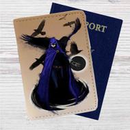 Raven DC Comics Custom Leather Passport Wallet Case Cover