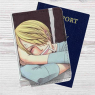 Sanji One Piece Custom Leather Passport Wallet Case Cover