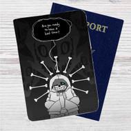 Sans Undertale Game Custom Leather Passport Wallet Case Cover
