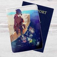 Sasuke Uchiha Naruto Shippuden Custom Leather Passport Wallet Case Cover