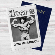 The Doors Gym Morrison Custom Leather Passport Wallet Case Cover