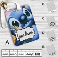 Disney Stitch Face Custom Leather Luggage Tag