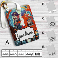 Gurren Lagann Simon and Kamina Custom Leather Luggage Tag