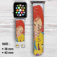 Ariel and Flounder The Little Mermaid Custom Apple Watch Band Leather Strap Wrist Band Replacement 38mm 42mm