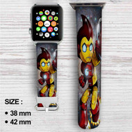 Astro Boy Iron Man Stark Industries Custom Apple Watch Band Leather Strap Wrist Band Replacement 38mm 42mm
