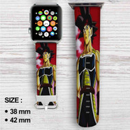 Bardock Father of Goku Custom Apple Watch Band Leather Strap Wrist Band Replacement 38mm 42mm