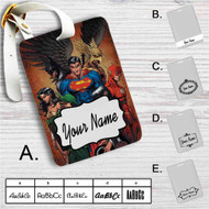 Justice League Identity Crisis Custom Leather Luggage Tag