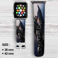 Batman and Catwoman Kiss Custom Apple Watch Band Leather Strap Wrist Band Replacement 38mm 42mm
