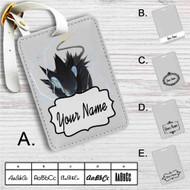 Luxray Pokemon Custom Leather Luggage Tag
