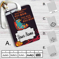 Phineas and Ferb Custom Leather Luggage Tag
