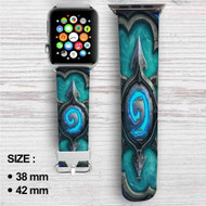 Card Back Hearthstone Heroes of Warcraft Custom Apple Watch Band Leather Strap Wrist Band Replacement 38mm 42mm