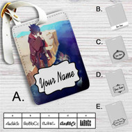 Sasuke Uchiha Naruto Shippuden Custom Leather Luggage Tag