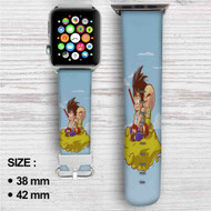 Goku and Kuririn Kintoun Dragon Ball Custom Apple Watch Band Leather Strap Wrist Band Replacement 38mm 42mm